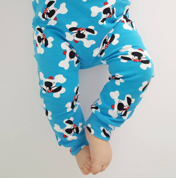 Blue Puppi the Pirate Dog Handmade Leggings
