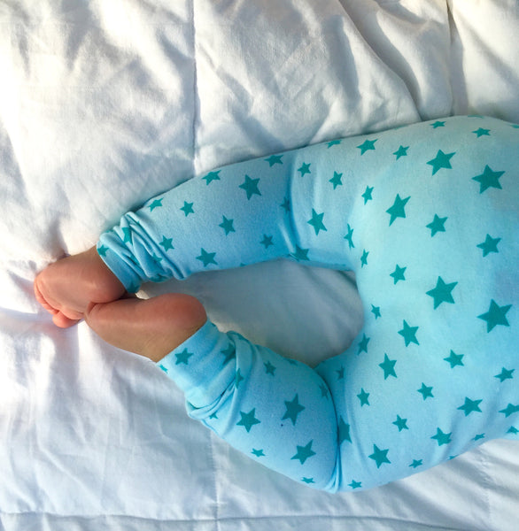 Aqua Big 'n' Small Star Handmade Leggings