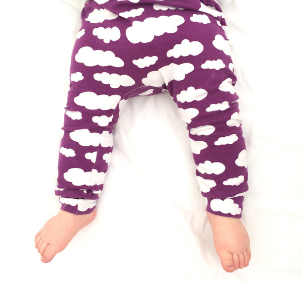 Purple Cloud Handmade Leggings