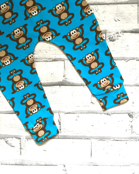 Blue Marvin the Cheeky Monkey Baby & Toddler Leggings