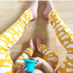 Yellow Cloud Adult Handmade Leggings - Supporting The Down Syndrome Association