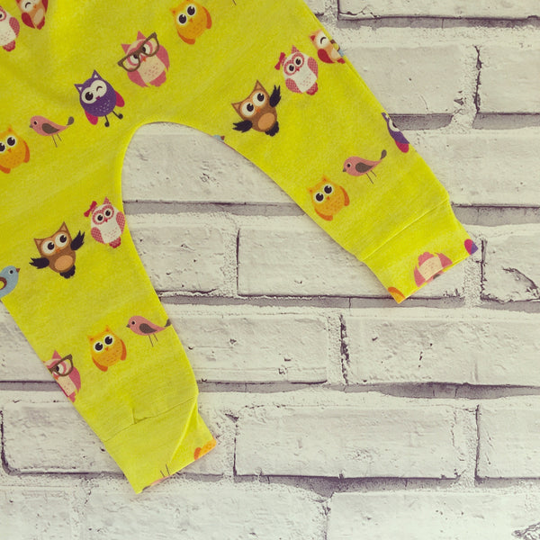 Yellow Ollie the Owl & Friends Handmade Leggings