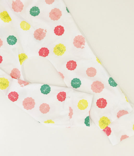 Pink and Lemon Baby and Toddler Handmade Biscuit Leggings