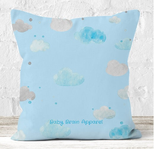 'Dream Big Little One' Blue Cushion - Personalised Option Available