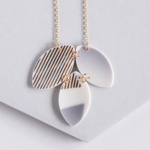Grey Gold Necklace