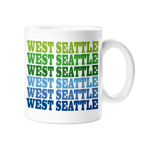 West Seattle Mug, Blue + Green