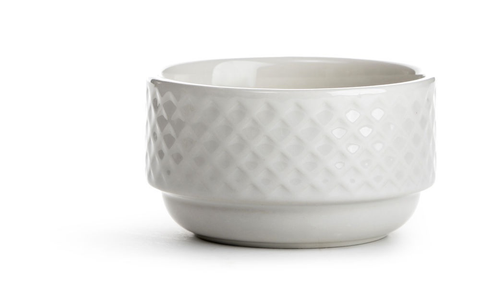 Textured Bowl - White