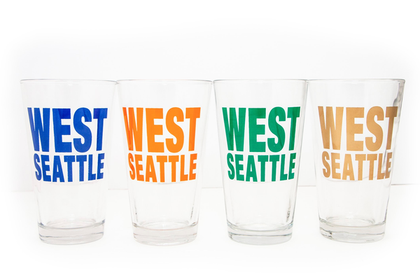 West Seattle Pint Glass - Green