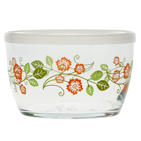 Storage Bowl, Orange Flower