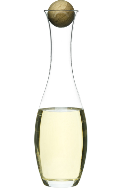 Oval Oak Wine Carafe, Tall