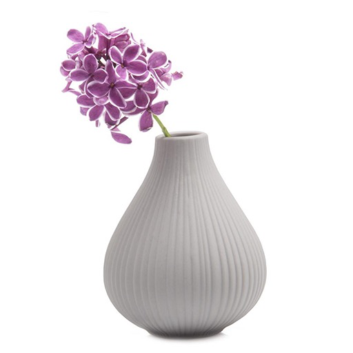 Ceramic Bud Vase, Grey