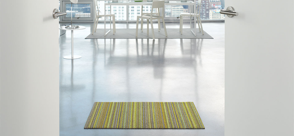 Chilewich Indoor/Outdoor Shag Floor Mat, Skinny Stripe