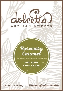 Dark Chocolate + Rosemary Caramel Bar