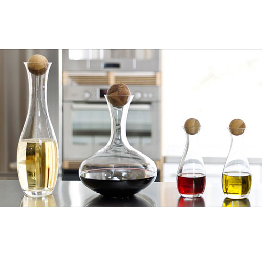 Oval Oak Wine Carafe, Wide