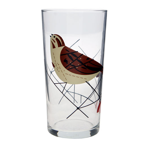Charley Harper Song Sparrow 20oz. Glass