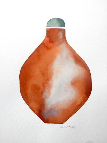 Watercolor Vessel XXVI by Rachel Austin, 11x14