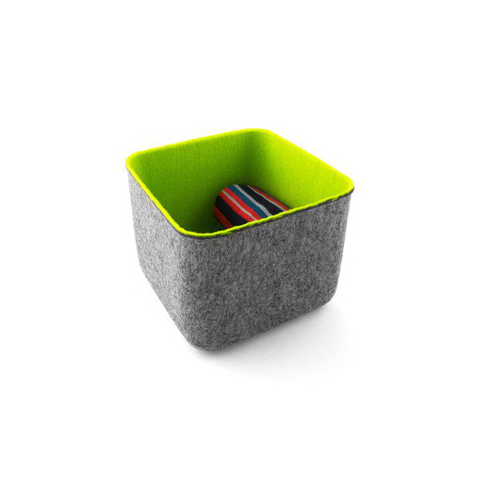 Felt Storage Basket, Small Spring Green