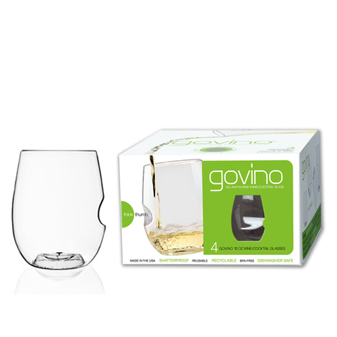 Govino 12oz shatterproof glasses, set of 4