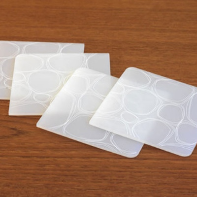 Silicone Coasters, Pebbles, White