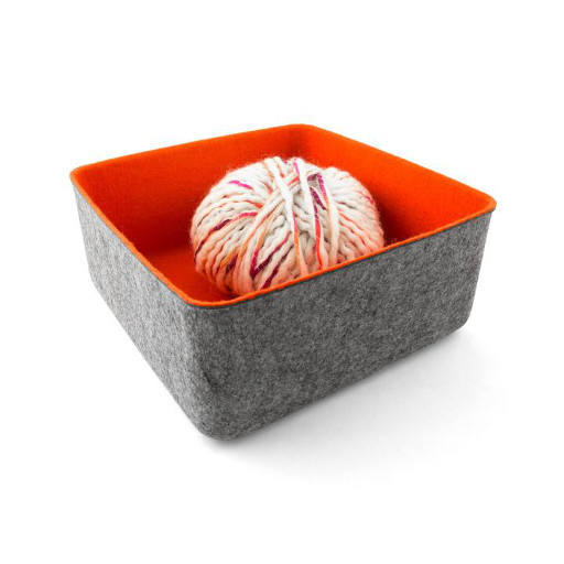 Felt Basket, Large Orange
