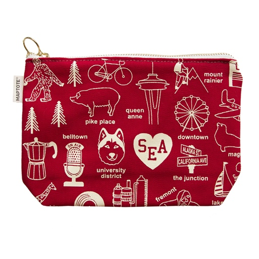 Maptote Seattle Pouch, Red