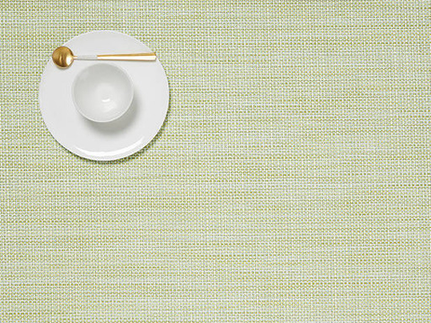 Placemat, Mini Basketweave, Matcha Green, Rectangle
