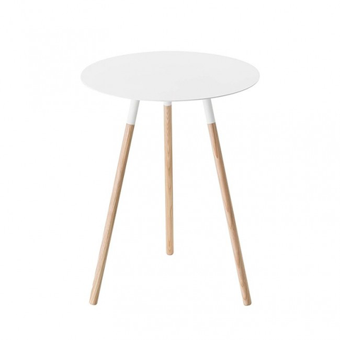 Round Side Table, White