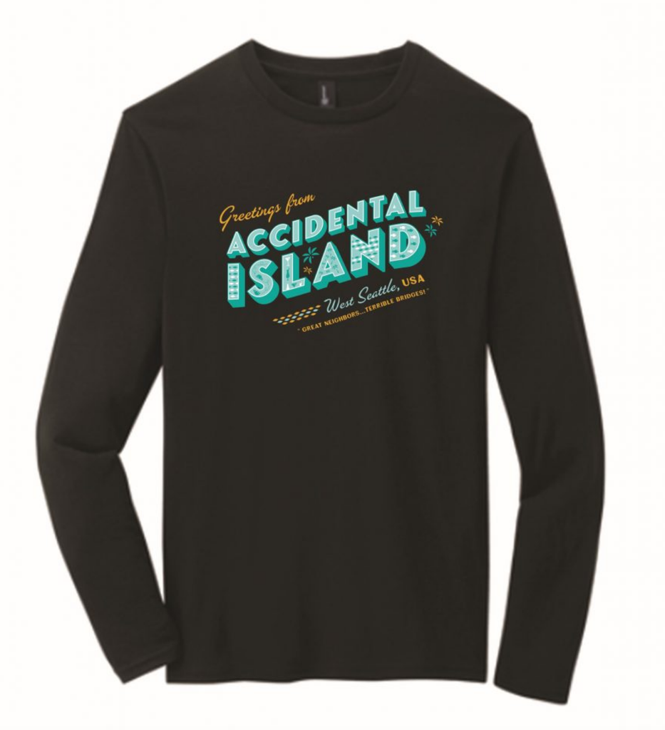 Accidental Island, West Seattle Long Sleeved T-Shirt