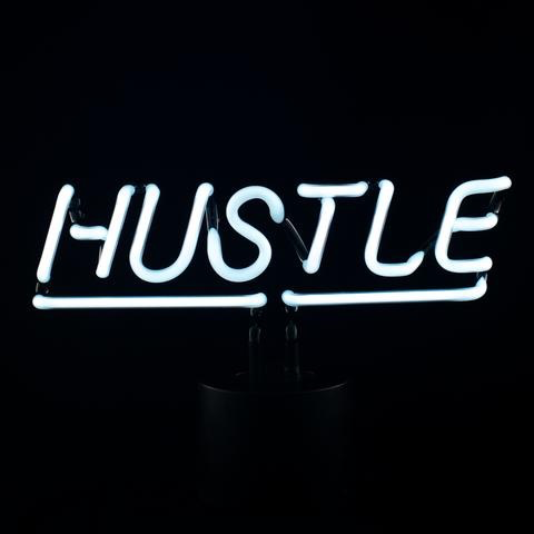 """Hustle"" Neon Desk Lamp"