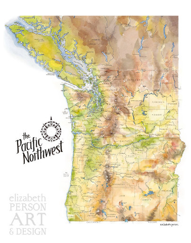 Pacific Northwest 11x14 Print