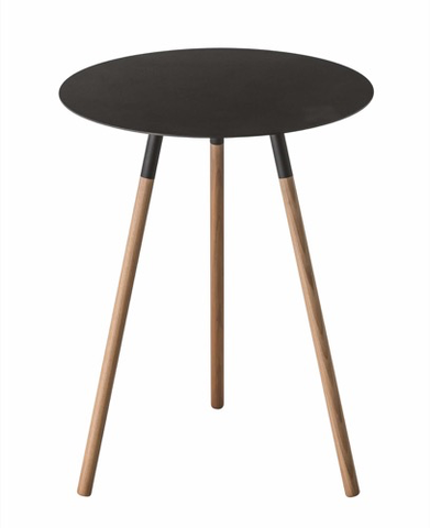 Round Side Table, Black