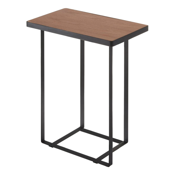 Rectangle End Table with Storage, Black