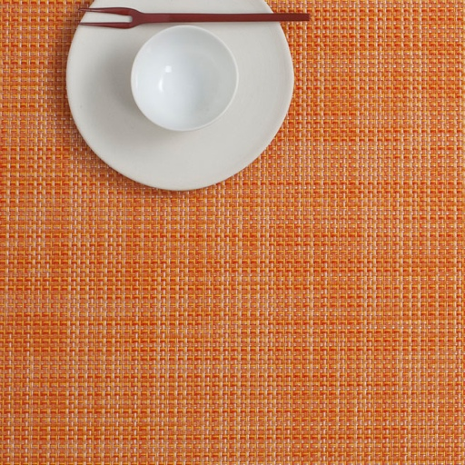 Placemat, Mini Basketweave, Clementine, Rectangle