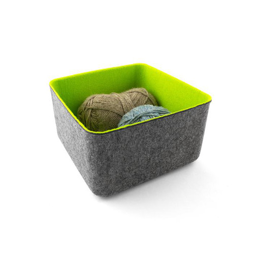 Felt Storage Basket, Medium Spring Green