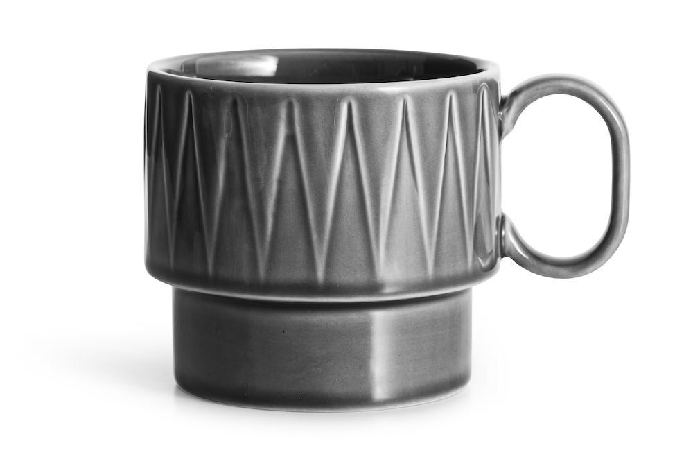 Large Textured Mug - Grey