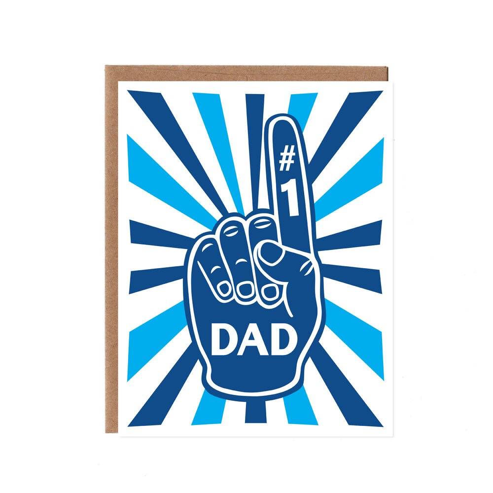 #1 Dad Card, Blue