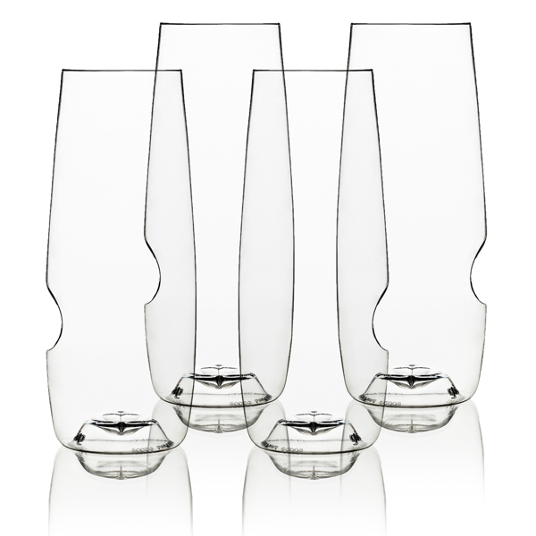 Govino shatterproof champagne glasses, set of 4