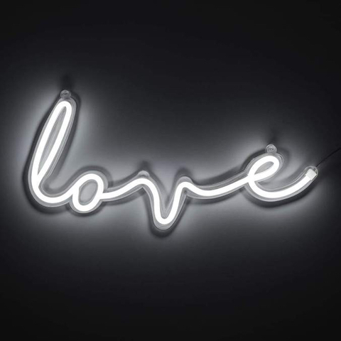 Neon Wall Light, LED Love