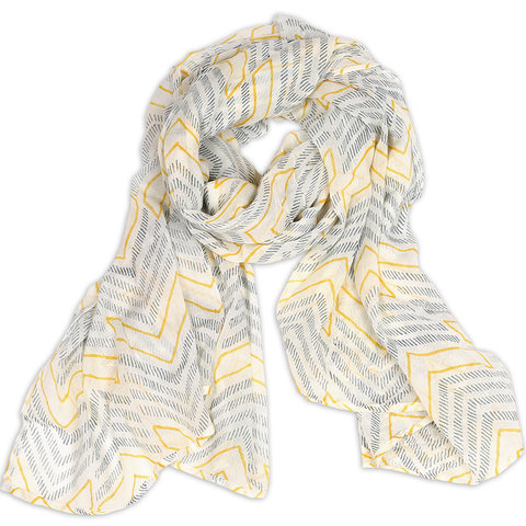 Chevron Cotton Scarf