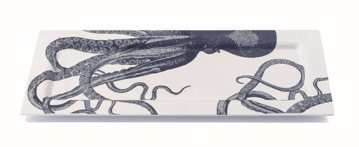 Scrimshaw Octopus Tray, Large