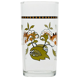 Italian Wine Glass, Checkerboard Floral pattern