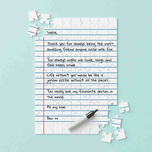 Personalizable Letter Jigsaw Puzzle