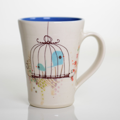 Caged Bird Mug