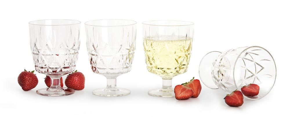 Shatterproof Wine Glasses, Set of 4