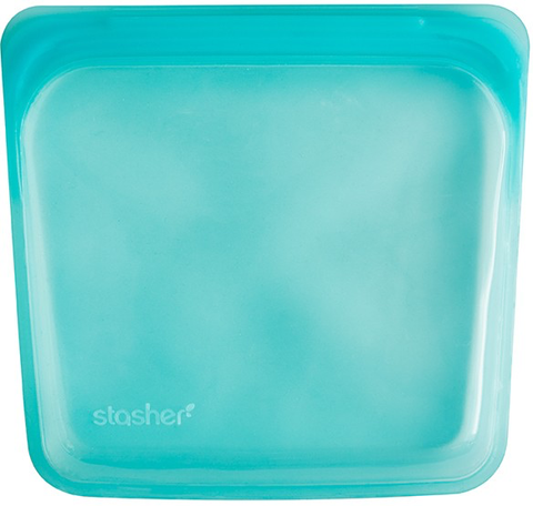 Stasher Silicone Bag, Aqua