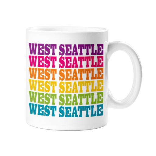 West Seattle Mug, Rainbow