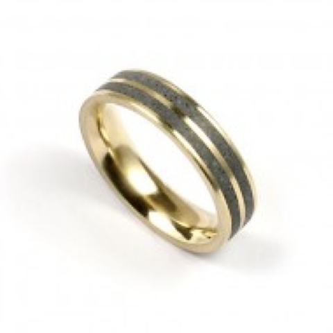Konzuk 14k Gold and Concrete ring