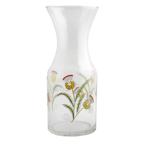Italian Deco Thistle Decanter