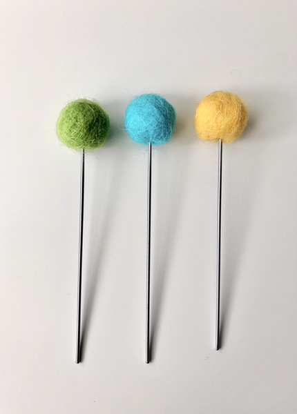 Felt + Steel Flower Bouqet, 3 stems