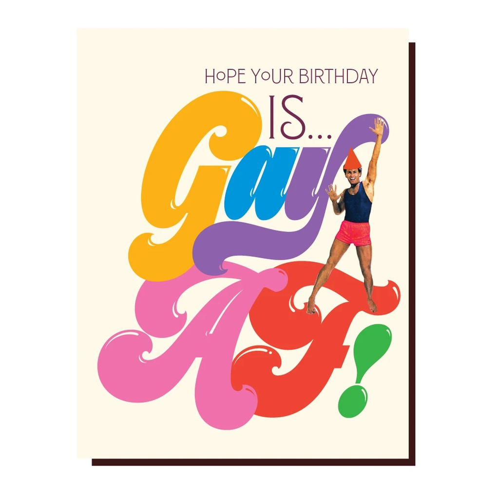 Gay AF Birthday Card